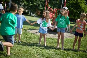 Image of children in 4H holding hands